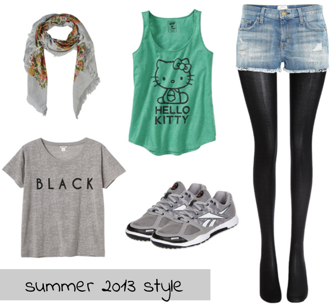 Summer style: shorts and stockings