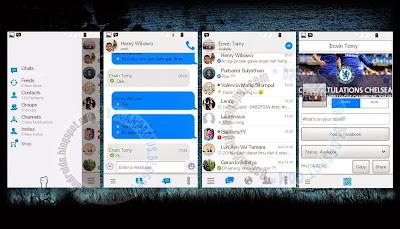 download BBM Mod Tema Facesengger Tampilan Seperti Facebook V2.8.0.21
