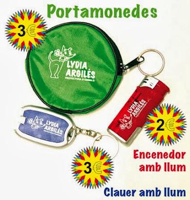 PORTAMONEDES, ENCENEDOR i CLAUER