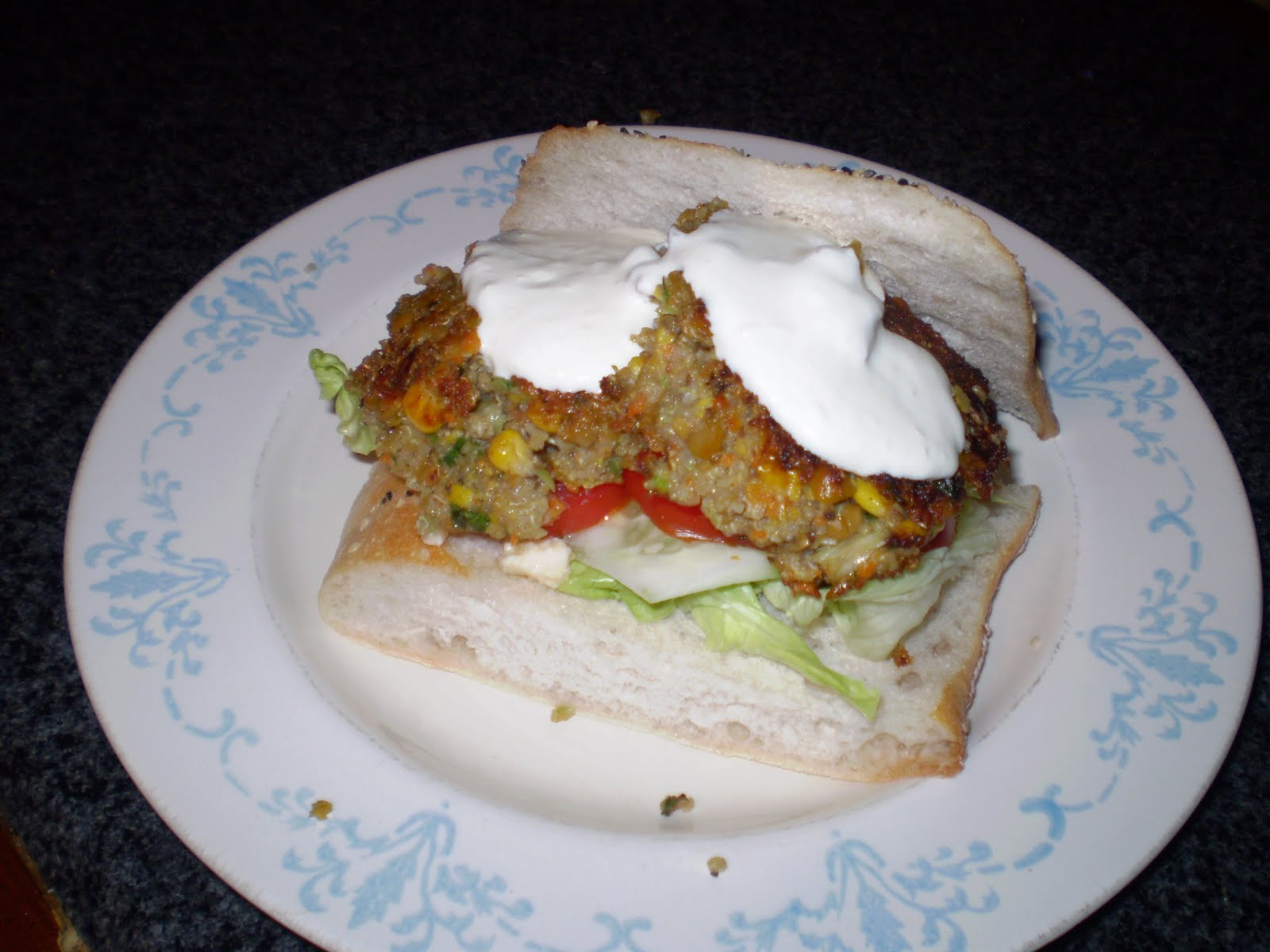 cakes craft & quilts: Quinoa Burgers - Greek Style