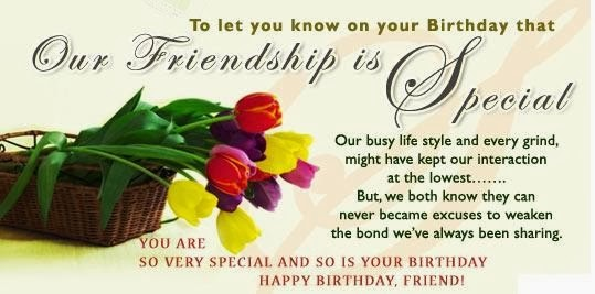 Friendship Birthday sms