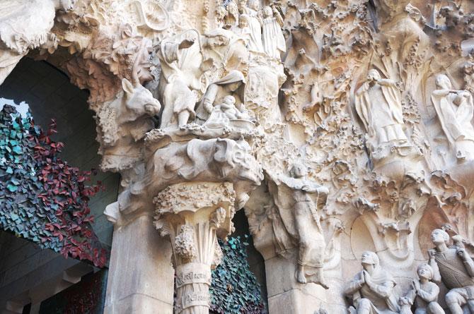 détail de la façade de la Sagrada Familia