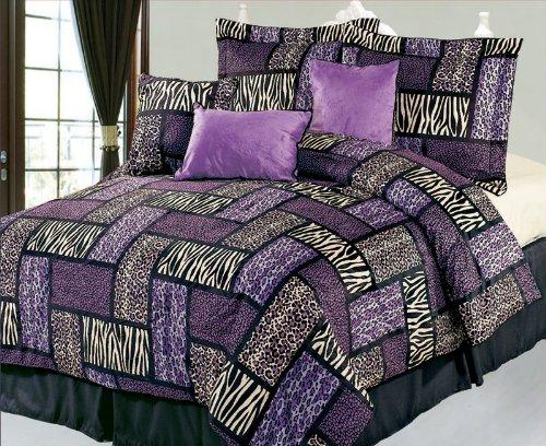 Purple Zebra, Cheetah And Leopard Print Comforter & Bedding Sets