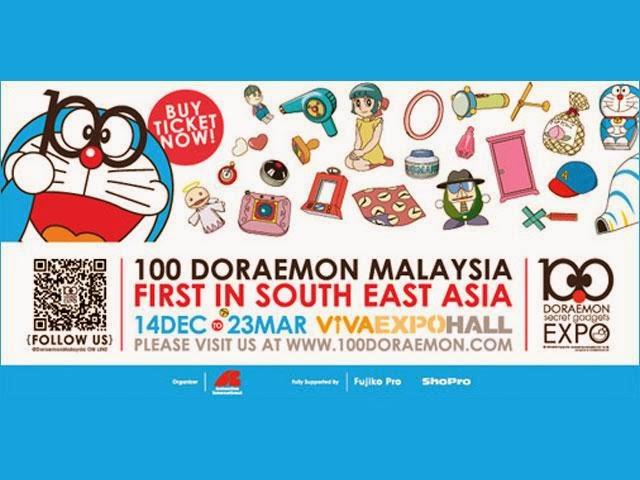 Peluang Melihat Lebih Dekat 100 Gajet Rahsia Doraemon