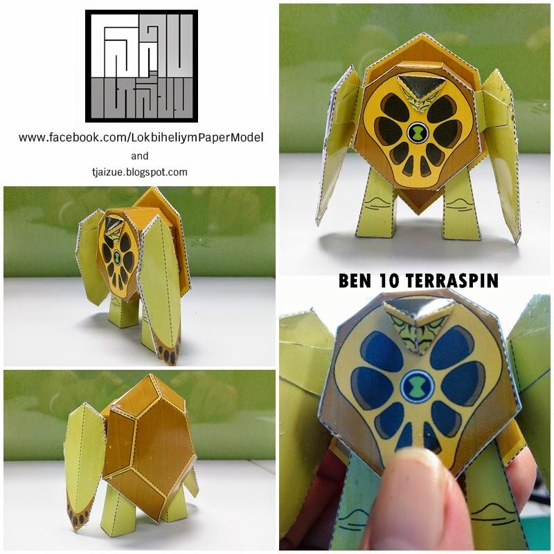 Ben 10 Terraspin Paper Toy