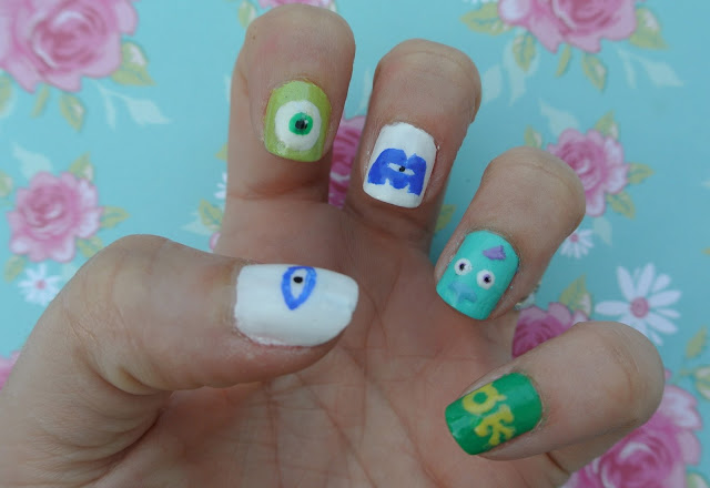mike monsters inc nail art
