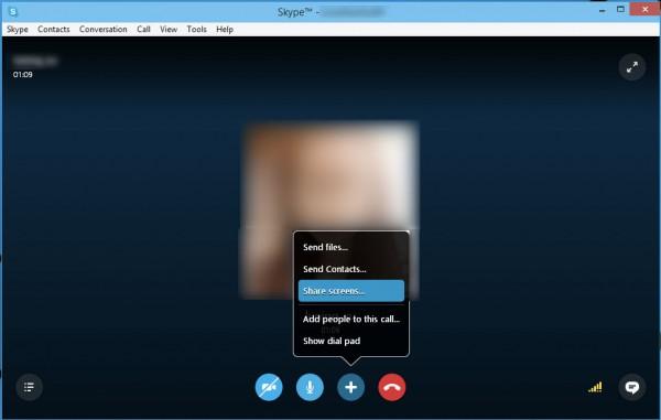 Cách chia sẻ màn hình Desktop trực tiếp qua Skype 1