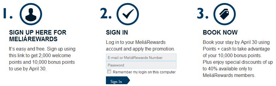 Meliá Rewards rejestracja w programie