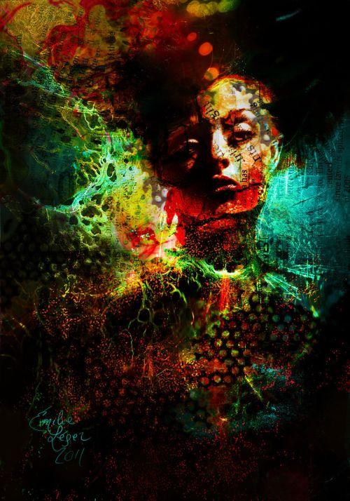 emilie leger foto manipulação digital surreal mulheres modelos sombria Nós estávamos brilhando