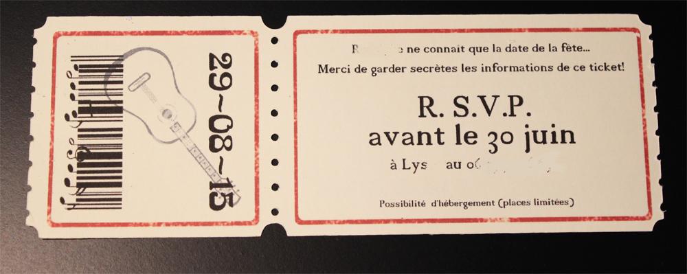 concert invitation card