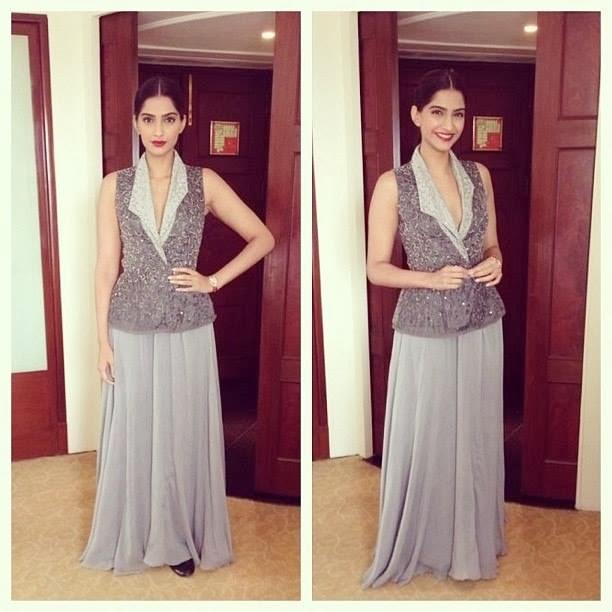 Sonam Kapoor's look for Bewakoofiyaan Delhi promotions