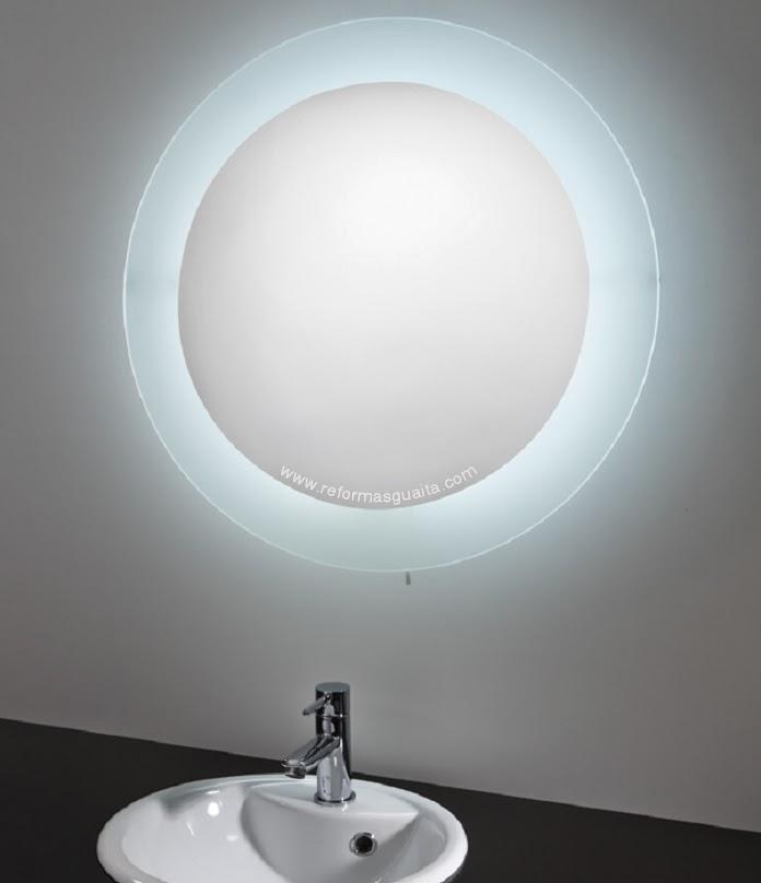 Espejo circular con luz para ba o reformas guaita - Espejos de bano con luz ...