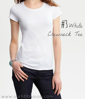 the essential white tee