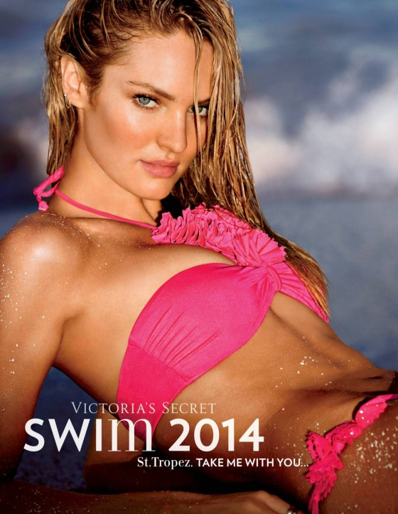Victoria's Secret Swim 2014 Lookbook featuring Candice Swanepoel