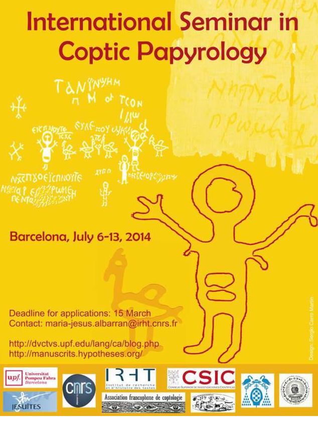 Whats new in papyrology november 2013 international seminar in coptic papyrology barcelona july 6 13 2014 fandeluxe Choice Image