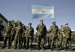 Argentine troops