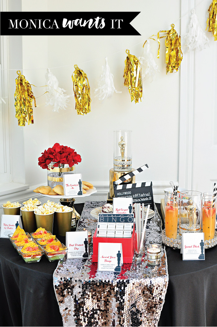Oscar movie award show party ideas printables recipes