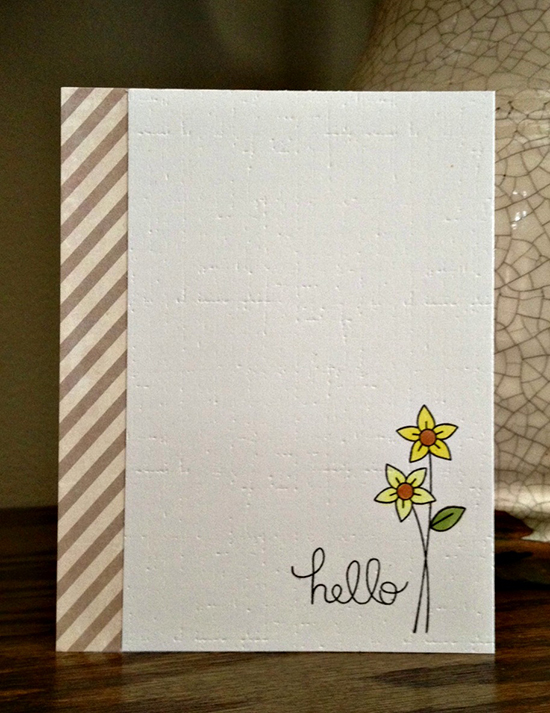 Sweet & Simple Flower card by Jamie Greene for Newton's Nook Designs