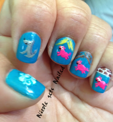 3 Little Pigs Nail Art
