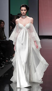 Vanessa Lekpa haute couture romantique Gattinoni soie mousseline