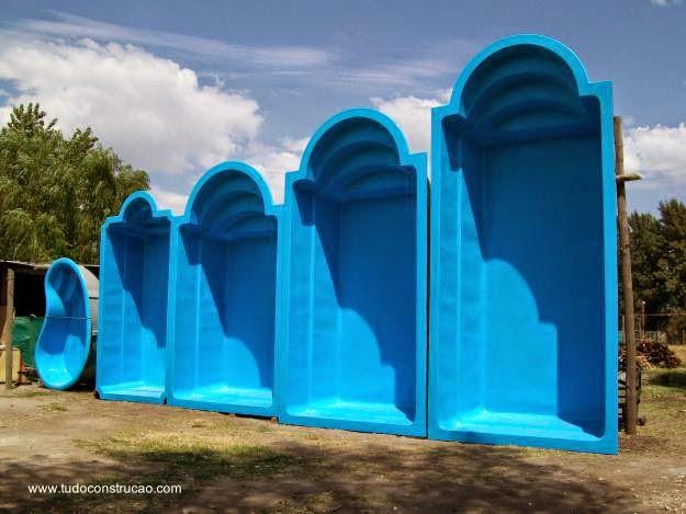Arquitectura de casas distintos tipos de piscinas - Piscina fibra vidrio ...