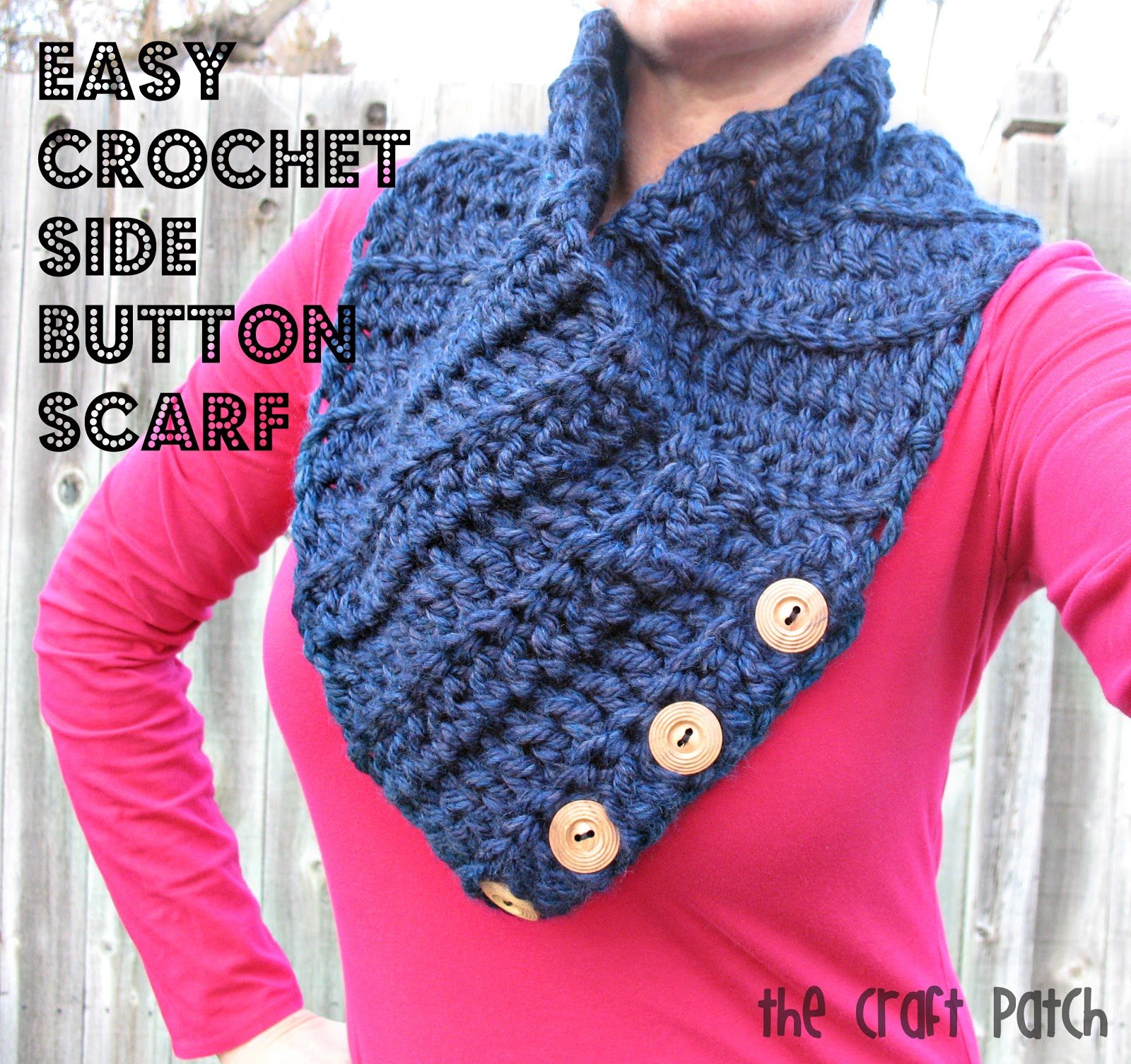 The craft patch easy crochet side button scarf easy crochet side button scarf bankloansurffo Images