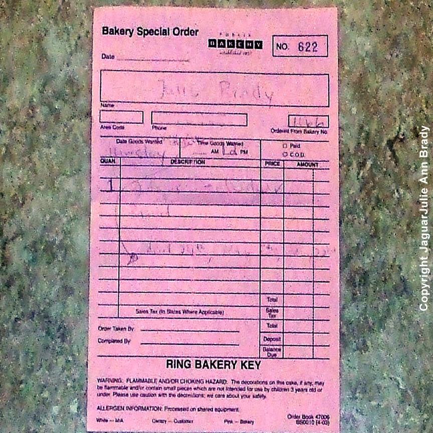 publix bakery special order pink slip