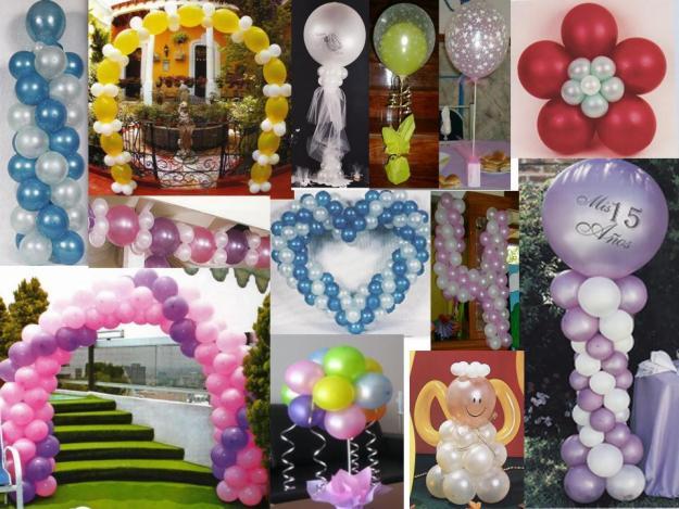 con globos ya ni el cielo es el limite ya que con los globos con helio ...