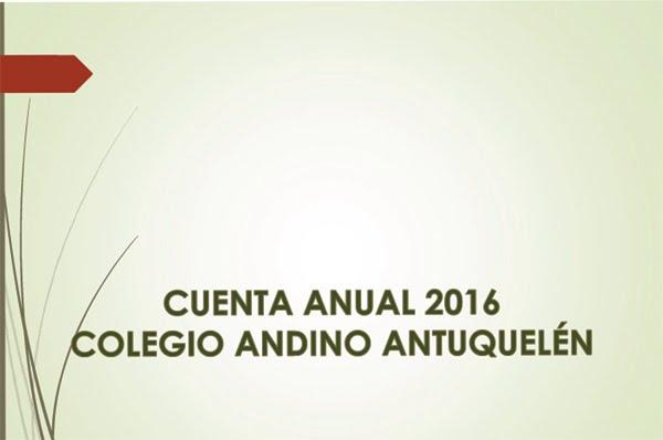 CUENTA ANUAL 2016