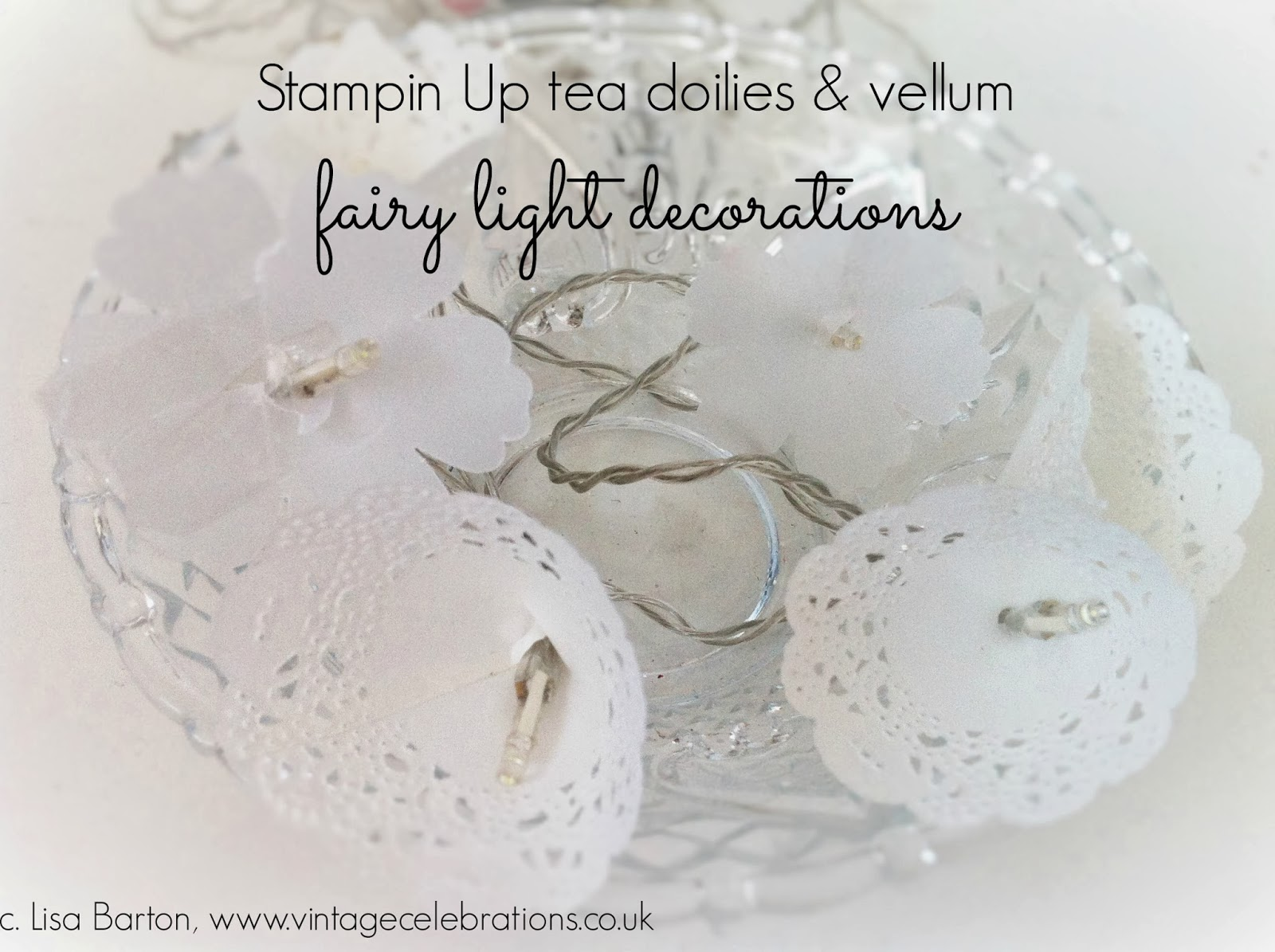 Tips techniques on how to sell your handmade crafts easily simply take a doily or punched vellum shape we used the stampin up blossom punch for ours make a small hole at the bottom and thread your fairy light mightylinksfo