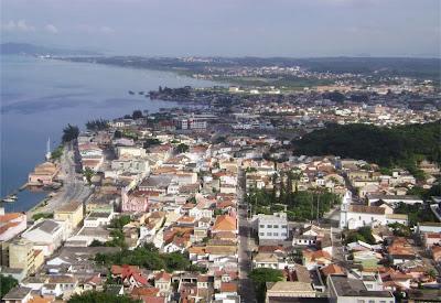 Vista do centro de Laguna – SC