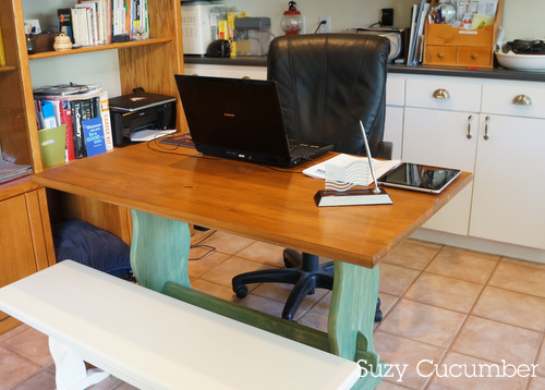 dinette table home office refinished paint