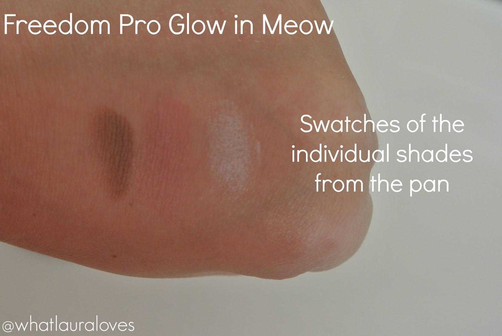 Freedom Pro Glow powder Meow swatch Beauty Crowd review