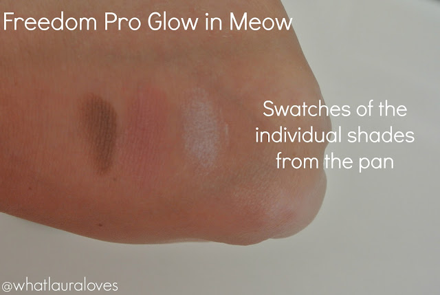 Freedom Pro Glow powder Meow swatch Beauty Crowd review