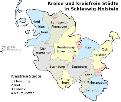 Karte der Provinz Schleswig