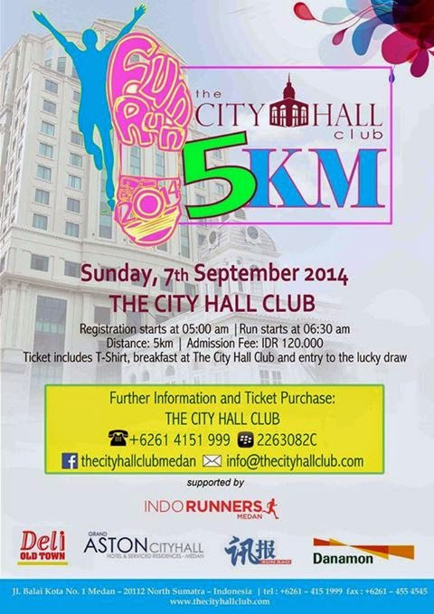 FUNRUN 2014 THE CITY HALL CLUB INDORUNNERS MEDAN