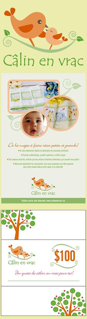 Criação de Identidade visual para a marca canadense Câlin en Vrac