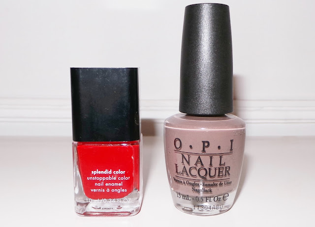 Calvin Klein Nail Polish Red Red, OPI Over The Taupe Nail Polish