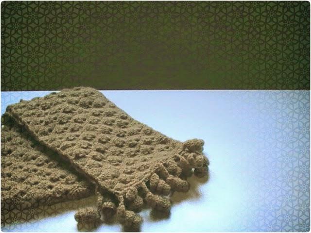 Bufanda a crochet con punto fantasía - Margarita Knitting