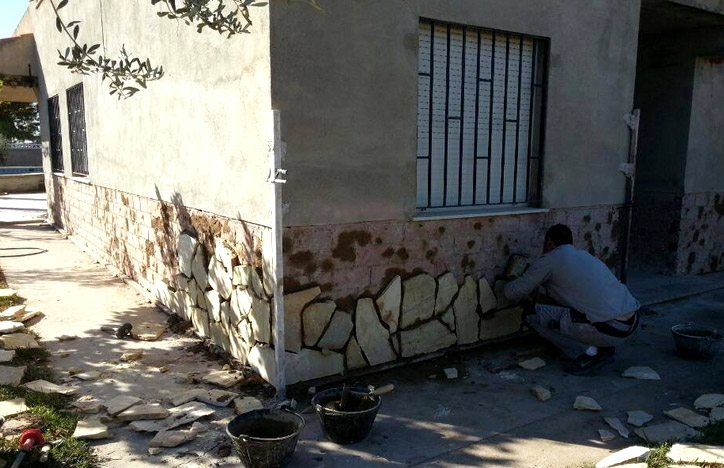 Colocación de piedra natural en Castellón