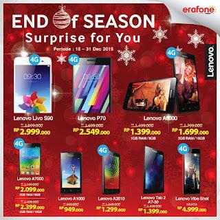 End Of Season Promo Smartphone dan Tablet Lenovo Akhir Tahun 2015 di Erafone