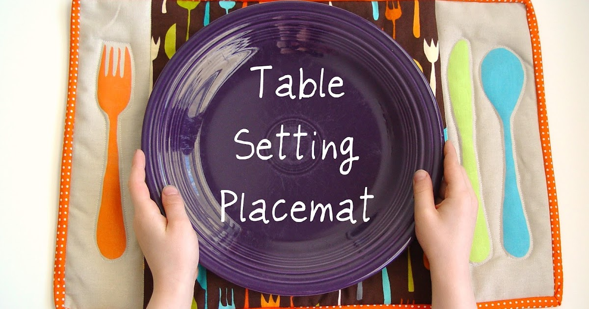Online Inspiration Table Setting Placemat
