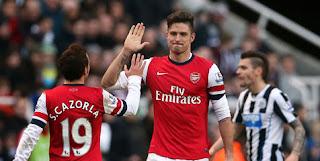 Review: Newcastle United vs Arsenal, Giroud Benamkan Tuan Rumah
