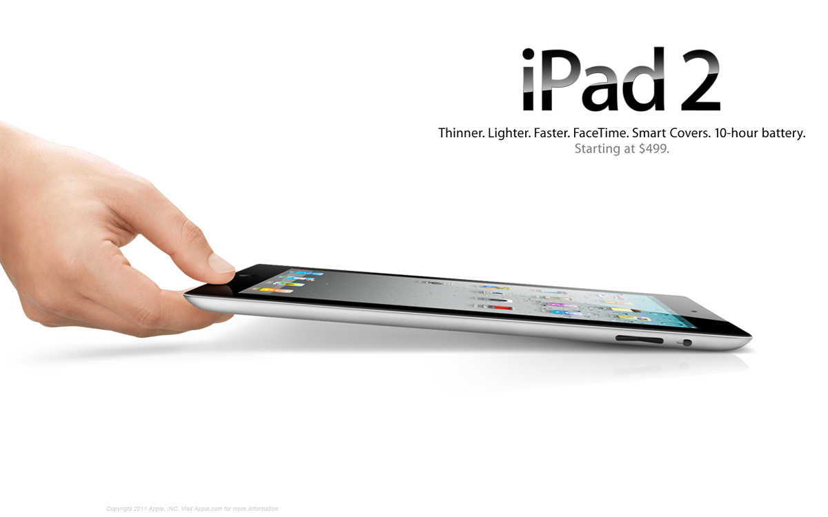 iPad2 with its minimalist ad design