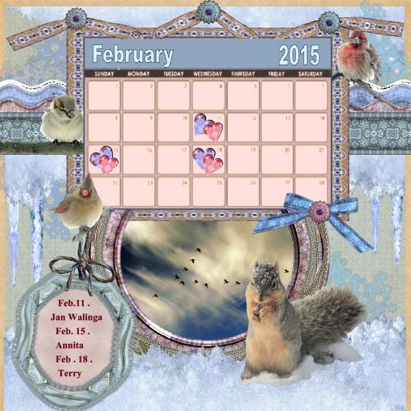 Nelleke's Feb.15 calendar