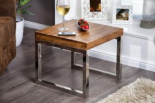 luxusny maly stolik z masivu, masivny nabytok, konferencny stolik z dreva