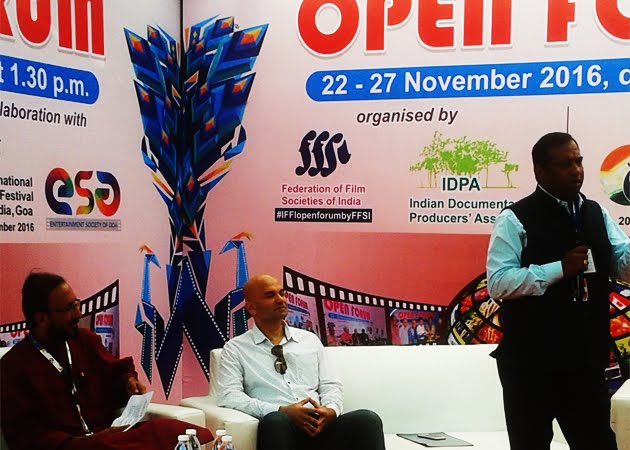 Speaker at Open Forum section of IFFI 2016