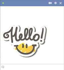 Hello Text Image