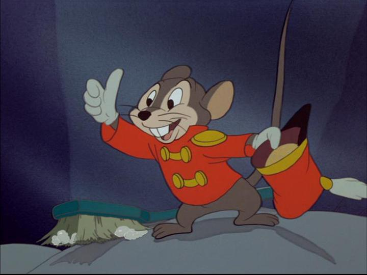 Timothy Q. Mouse giving thumbs up Dumbo 1941 animatedfilmreviews.blogspot.com