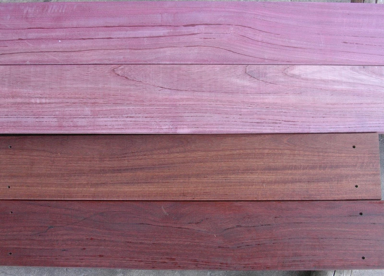 Brazilian Hardwood Decking Purple Heart Hardwood Decking